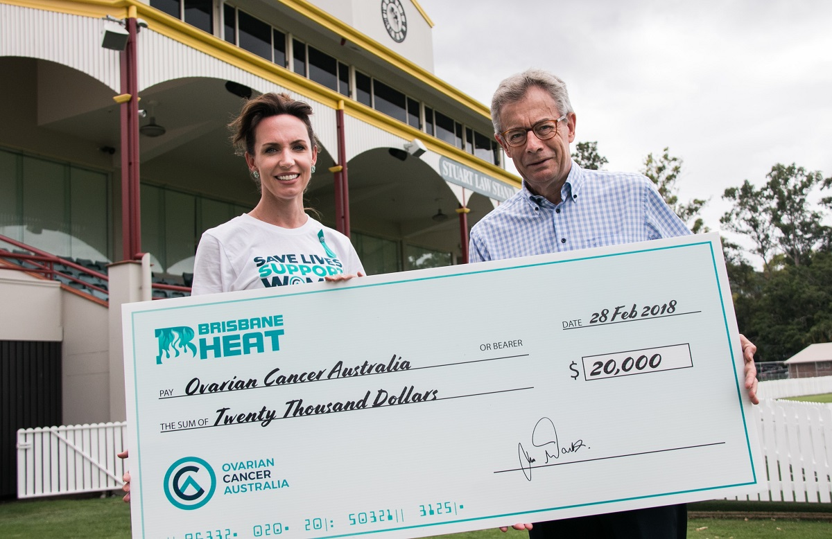 Brisbane Heat Ovarian Cancer Australia Teal Ribbon Day 2018